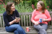Thumb phyllis jones right chatting to catherine a volunteer at the social club 210x140